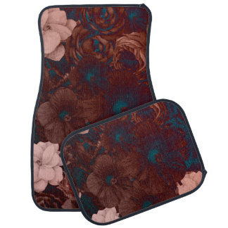 Psychedelic Floral Collage Car Mat