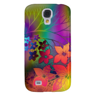 Psychedelic Floral Galaxy S4 Cover