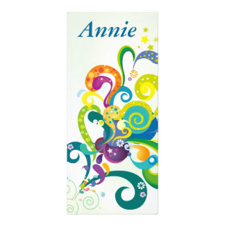 Psychedelic Floral Personalized  Bookmarks Rack Card