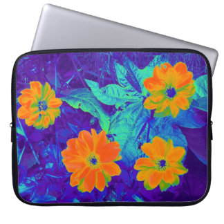 Psychedelic Flower Bed 02 Laptop Sleeves