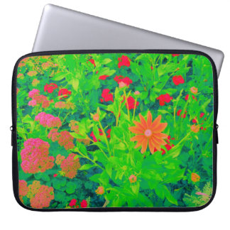Psychedelic Flower Bed Laptop Computer Sleeve