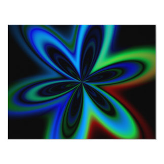 Psychedelic Flower Card