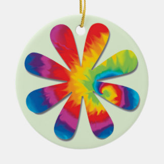 Psychedelic Flower Ceramic Ornament