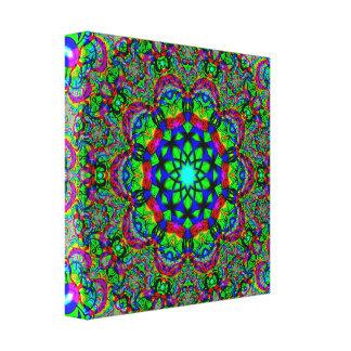 Psychedelic Flower Mandala Canvas Print