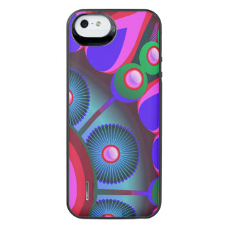 Psychedelic Flower Power Art iPhone SE/5/5s Battery Case