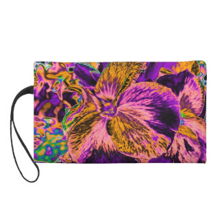 Psychedelic Flowers Wristlet Clutches