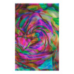 Psychedelic Flowers Personalized Stationery