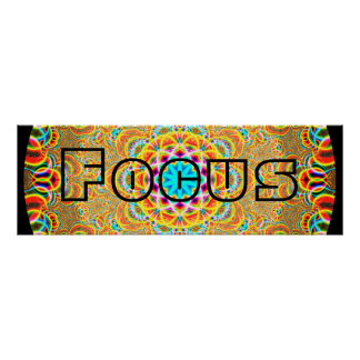 Psychedelic Focus Poster
