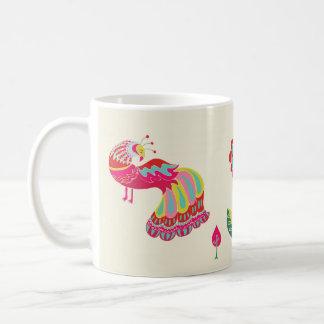 Psychedelic Folk Pheasant Coffee Mug