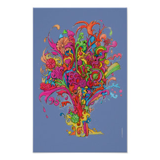 psychedelic Fountain Poster