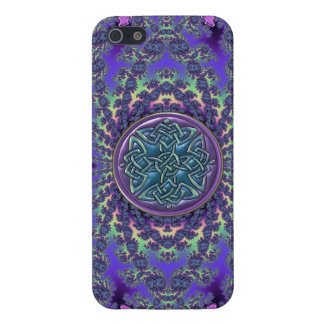 Psychedelic Fractal and Purple Blue Celtic Knot iPhone 5 Case