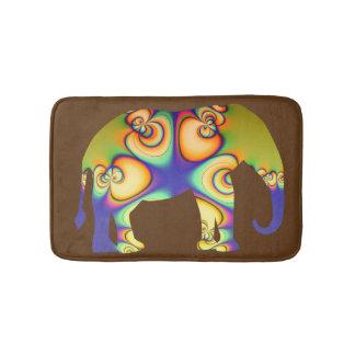 Psychedelic Fractal Elephant Bath Mat