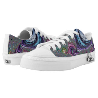 Psychedelic Fractal Low Tops