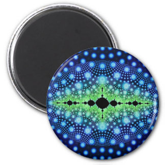 Psychedelic Fractal Wild Decorative Abstract Art 6 Cm Round Magnet