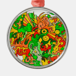 Psychedelic Fun Metal Ornament