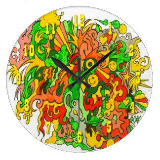 Psychedelic Fun Wall Clocks