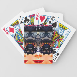 Psychedelic Girl Bicycle Playing Cards