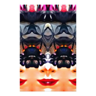 Psychedelic Girl Customised Stationery