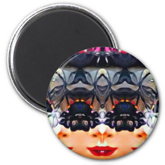Psychedelic Girl Magnet
