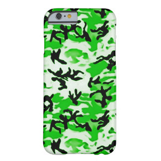 Psychedelic Green Camo Barely There iPhone 6 Case