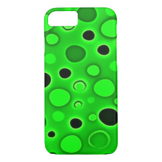 Psychedelic Green Lava Lamp Bubbles iPhone 8/7 Case