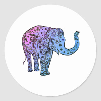 Psychedelic Groove Classic Round Sticker