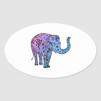 Psychedelic Groove Oval Sticker