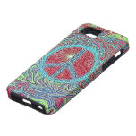 Psychedelic Groovy Trippy Peace Sign iPhone 5 Cases