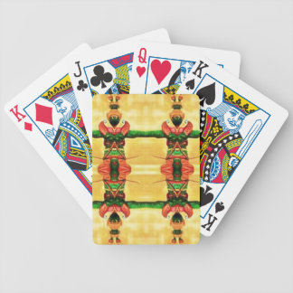 Psychedelic Guard Yellow Green Bicycle Playing Cards