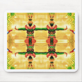 Psychedelic Guard Yellow Green Mouse Pad