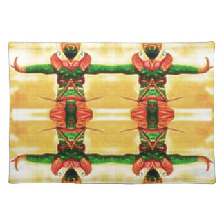 Psychedelic Guard Yellow Green Placemat