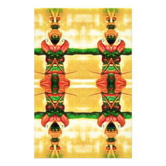 Psychedelic Guard Yellow Green Stationery Paper