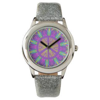 Psychedelic Hippie Tie Dye Peace Symbol Watch