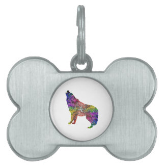 Psychedelic Howl Pet Name Tag