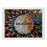 Psychedelic Imagine Mosaic, Strawberry Fields 01 Poster