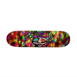 """Psychedelic Jester """"Starz"""" Custom Skateboard"""
