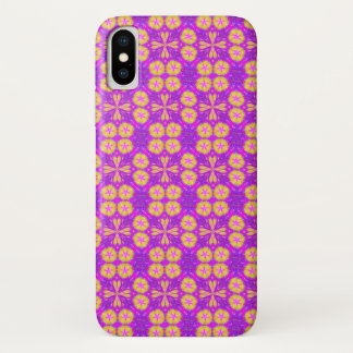 Psychedelic Jester Watercolor Pattern iPhone X Case