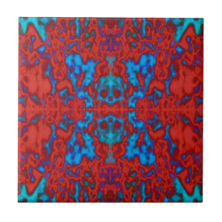 Psychedelic kaleidoscope pattern small square tile