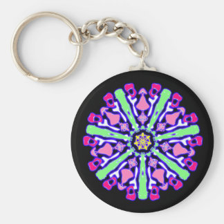 Psychedelic key-ring coloured n°4 key ring