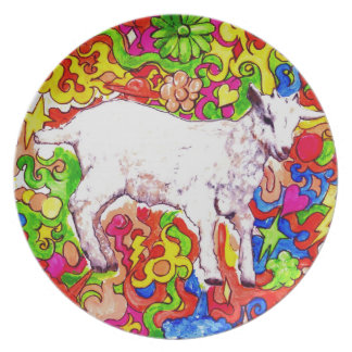 Psychedelic kid plate