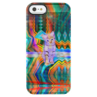 Psychedelic Kitten Matrix Clear iPhone SE/5/5s Case