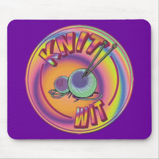 Psychedelic Knit Wit Mouse Pad