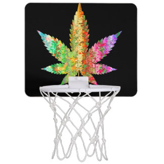 Psychedelic Leaf Basketball Game Mini Basketball Hoop