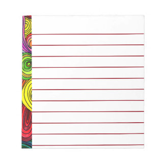 Psychedelic Lines Notepad