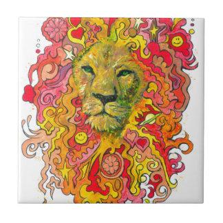 Psychedelic Lion Ceramic Tile