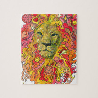 Psychedelic Lion Jigsaw Puzzle