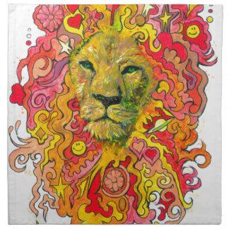 Psychedelic Lion Napkin
