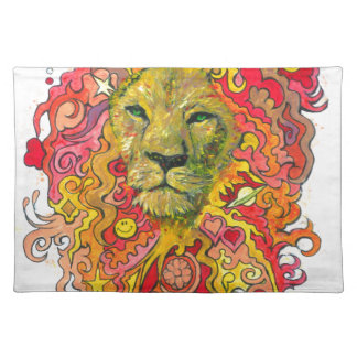 Psychedelic Lion Placemat
