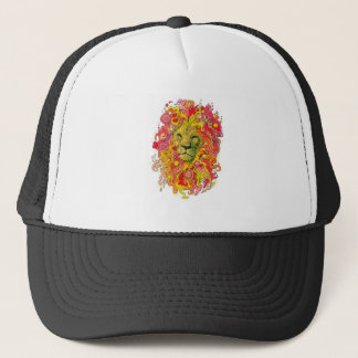 Psychedelic Lion Trucker Hat