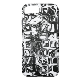 Psychedelic little black and white cubes iPhone 8/7 case